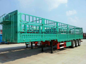China Brand Three Axles High Side Wall Semi Trailer pictures & photos