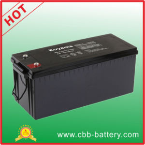 180ah 12V Deep Cycle Gel Battery for Industrial pictures & photos