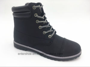 High Quality Leather PU Unisex Safety Boots for Labor (ET-XK160208W)