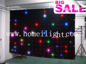 RGB Tricolor 3 in 1 LED Star Cloth / Curtain with CE Fireproof pictures & photos