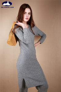 Cashmere Hoodie Long Skirt pictures & photos