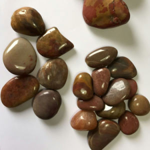 Red High Polished Natural Cobble &Pebble Stone (SMC-PR026) pictures & photos