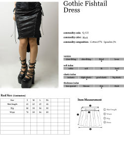 Fashion Gothic Sexy Fishtail Mermaid Skirt (Q-122) pictures & photos