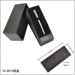 Triangle Shape Velvet Inner Opening Box Tilt Pen Set Paper Box pictures & photos