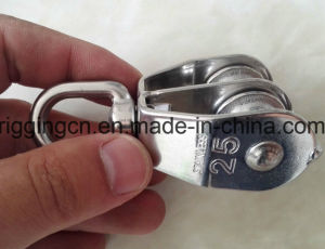 Stainless Steel Swivel Double Pully Swivel Eye Hoist Lifting for Marine Boat pictures & photos