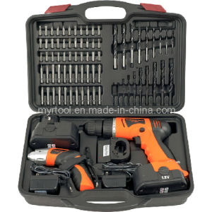 74-Piece Combo 12-Volt Cordless Drill and 3.6-Volt Drivers Set pictures & photos