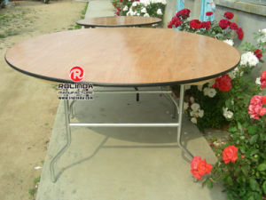 Round Plywood Folding Table for Hotel and Banquet Rental pictures & photos