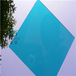 Lake Blue Lexan Polycarbonate Sheet for Team Shelter with High Impact Resistance/Light Weight/Easily Installation