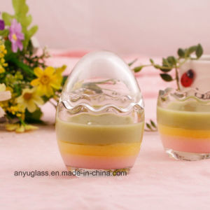 Egg Shape Milk Glass Bottles for Pudding pictures & photos