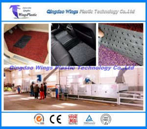 PVC Coil Floor Sheet Matting Roll Production Line, Plastic Cushion Carpet Roll Plant pictures & photos