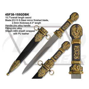 "15.7""Overall S. Steel Mirror Finished Sword with Zinc Alloy Handle: 4sf38-155gdbk pictures & photos"