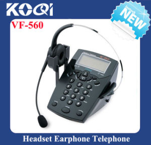 Caller ID Phone Call Center Telephone with Noise Canceling Headset pictures & photos