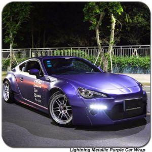 Tsautop 1.52*20m Lightning Metallic Chrome Purple Car Vinyl Wrap pictures & photos
