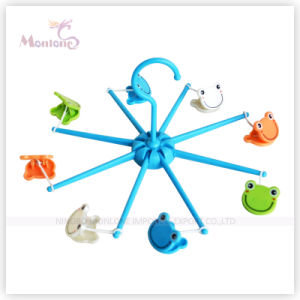 Diameter 16cm Foldable Plastic Clothes Hanger with Frog Shaped Hanger pictures & photos