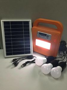 Solar Portable Lighting System with FM Radio and SD Card MP3 Player pictures & photos