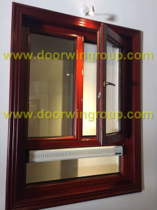Good Quality Aluminum Casement Window for House, Red Oak Wood Aluminum Window with Double Glazing pictures & photos