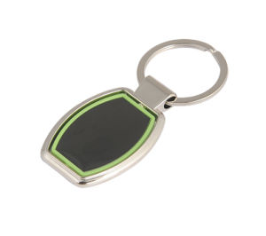 Promotional Engrave Logo Zinc Alloy Metal Keychain with Plastic (F1015C) pictures & photos