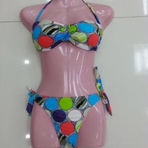 Women′s Colorful and Cute Spot Printed Bikini, Swimwear