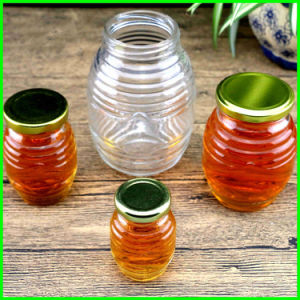 Wholesale Jam Glass Jar Preserves and Jelly Jar Round Clear Glass Honey Jar pictures & photos