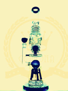 Corona T14 Tobacco Recycler Tall Color Bowl Glass Craft Ashtray Glass Pipes Heady Beaker Bubble Glass Water Pipe pictures & photos