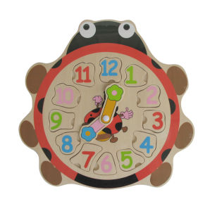 Wooden Ladybird Educational Toys Wooden Clock Puzzle pictures & photos