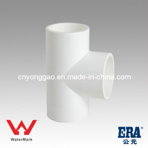 Sanitary Fitting Manufacturing Straight Tee Watermark PVC Fittings pictures & photos