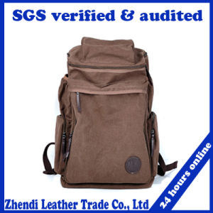 2017 Medium Size Canvas Backpack School Bag Travel Bag (5008) pictures & photos