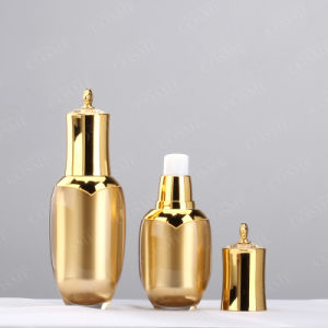 30ml 60ml 100ml High Quality Gold Crown Shaped Cosmetic Plastic Acrylic Lotion Bottle pictures & photos
