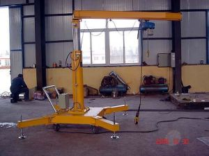 5t Small Mini Mobile Jib Crane with Wheels pictures & photos