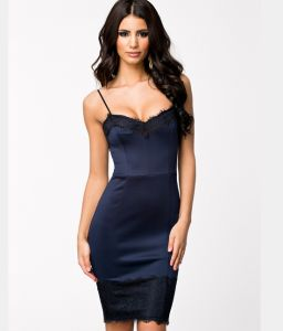 Latest Pencil Dress Sexy Club Women Fashion Tight Lace Dress pictures & photos