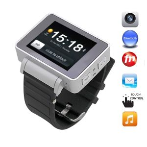 I5 1.8 Inch Touch Screen Quad Band 2.0MP Camera Bluetooth FM Multi-Media Watch Phone