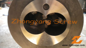 Conical Twin Double Screw Barrel for PVC Sheet Twin Conical Screw Barrel pictures & photos