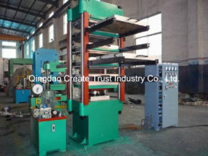 Full Automatic Control Rubber Tile Press pictures & photos
