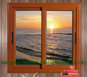 Hight Quality Aluminium Double Sliding Windows with Fly Screen pictures & photos