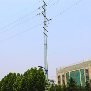 110 Kv and 35 Kv Power Transmission Monopole (tension tower) pictures & photos