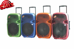 Rechargeable Battery DJ Speaker Box with USB/SD Bluetooth Wireless Microphones pictures & photos