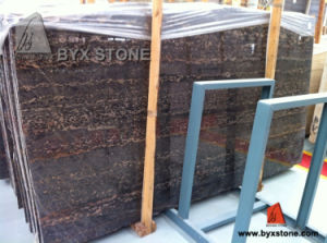 Chinese Black Portoro Marble Slab for Flooring Tiles and Vanity Top pictures & photos
