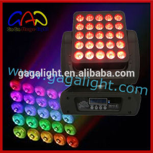 Unlimited Pan/Tilt Moving 25 (5X5) RGBW 4in1 LED Matrix Moving Head Light pictures & photos