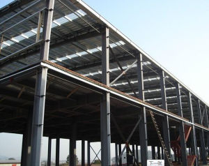 low cost steel frame construction warehouse building