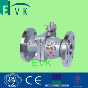 DIN Cast Steel 2PC Flange Ball Valve with Pn16