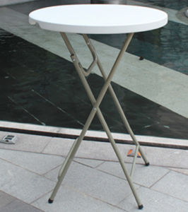 High Legs Plastic Round Folding Bar Table (SY-81Y) pictures & photos