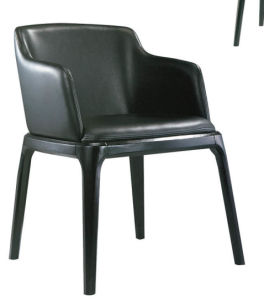 Compact Comfortable All Black Leather Lounge Chair pictures & photos