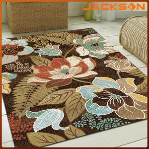 China Polyester Surface Flower Design Home Sitting Room Floor Mat ...