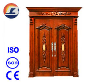 High Quality Exterior Elegant Meranti Solid Wooden Door pictures & photos