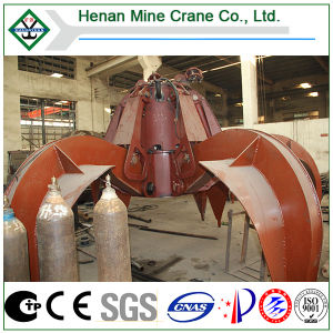 Telescope Crane Use BV Certificated Electric Hydraulic Orange Peel Grab pictures & photos