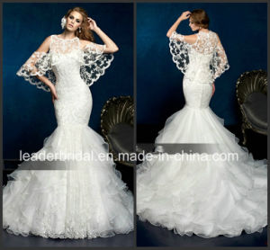 2e9653e5cf Source http   leaderbridal.en.made-in-china.com product PMonjuhKAZUr China-Free-Lace- Shawl-Wedding-Gown-Mermaid-Bridal-Wedding-Dress-W15218.html
