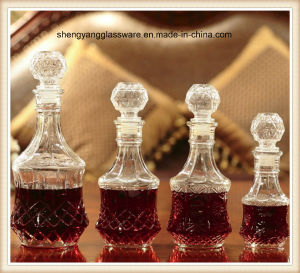 2PCS Sunflower/Prismatic Glass Wine Bottle Set with Glass Lid/Glass Bottle pictures & photos