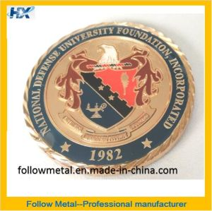 Customized Coin for National Defense University Foundation with Diamond Cutting pictures & photos