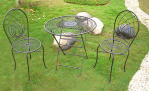 Wrought Iron Garden Table Sets (PL08-2130) pictures & photos