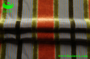 Stripe Velvet Sofa Fabric (BS4002) pictures & photos